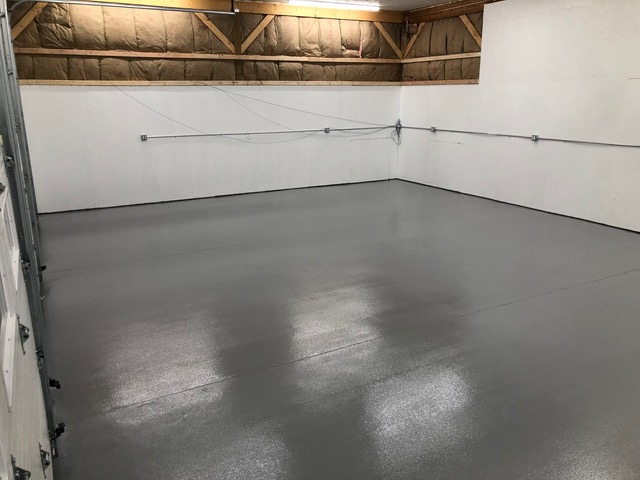 Commercial Garage - After Epoxy Install